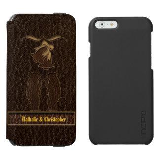 Leder-Blick Wedding Dunkelheit Incipio Watson™ iPhone 6 Geldbörsen Hülle