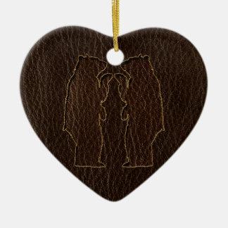 Leder-Blick Wedding Dunkelheit Keramik Ornament
