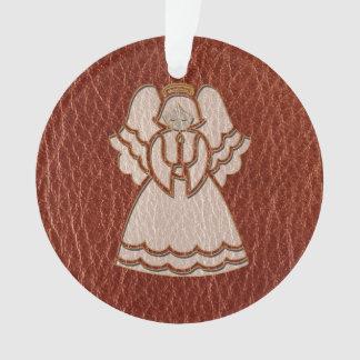 Leder-Blick Weihnachtsengel Ornament