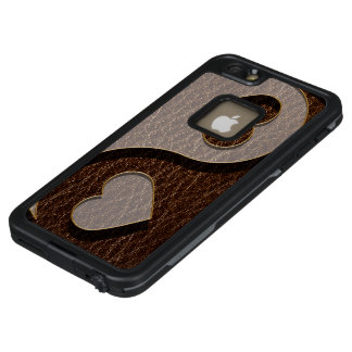 Leder-Blick Yin Yang Herz-Dunkelheit LifeProof FRÄ' iPhone 6/6s Plus Hülle