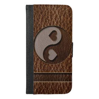 Leder-Blick Yin Yang Herz iPhone 6/6s Plus Geldbeutel Hülle
