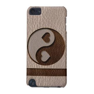 Leder-Blick Yin Yang Herz weich iPod Touch 5G Hülle