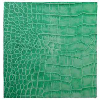 Leder grüner Kroko Serviette