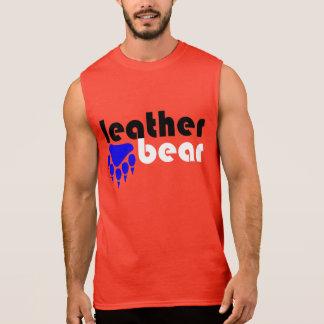 Lederne Bärn-Blau-Bärenpranke Ärmelloses Shirt