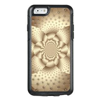 Lederne Blumen-optische Illusion TANs OtterBox iPhone 6/6s Hülle