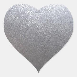 Lederne Schein SCHABLONE: Addieren Sie Text, Bild Herz-Aufkleber