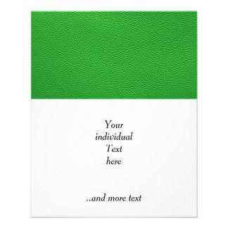 lederne Struktur, grün Personalisierte Flyer