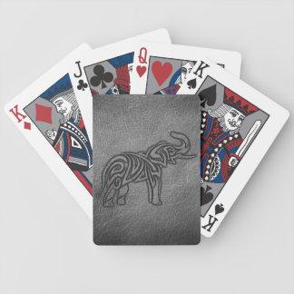 Lederner Stammes- Elefant Bicycle Spielkarten