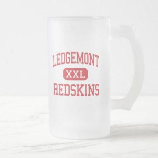 Ledgemont - Indianer - Highschool - Thompson Ohio Mattglas Bierglas