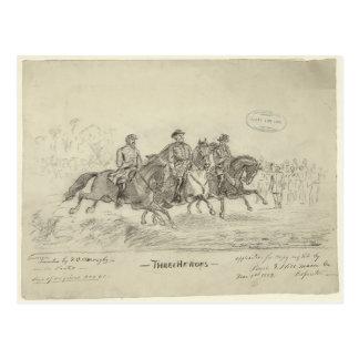 Lee, Jackson, Stuart Postkarte