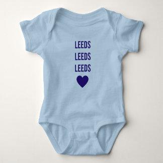 LEEDS LEEDS LEEDS LUFC personalisiertes blaues Baby Strampler