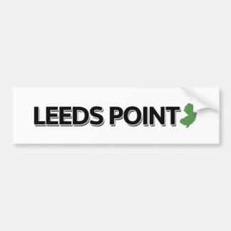 Leeds-Punkt, New-Jersey Autoaufkleber