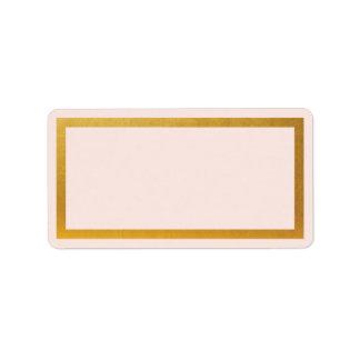 Leeradresseaufkleber der GoldImitatfolie Adressaufkleber