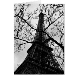 Leere Anlass-Grüße Eiffel-Turm-Paris Grußkarte