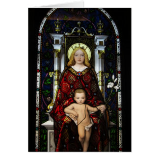 Leere Anmerkungs-Karte--Madonna und Kind Karte