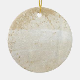 Leere Antike befleckte Papierverzierung 1800's Rundes Keramik Ornament