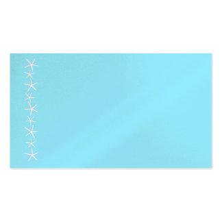 Leere Aquastarfish-GrenzPlatzkarten, Medium Visitenkarten