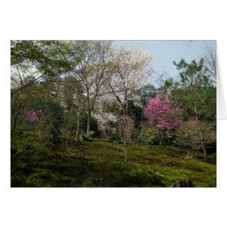 Leere-Arashiyama Blüten Karte