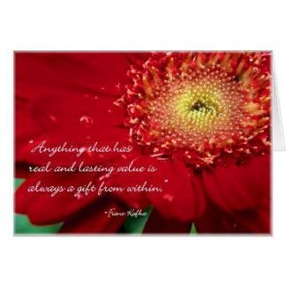 Leere Blumen-Anmerkungs-Karte mit Franz- Karte