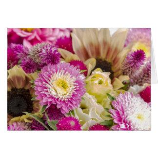 Leere Blumenmuster notecards Mitteilungskarte