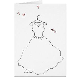 Leere Brautparty-Braut-Hochzeits-Verlobung Grußkarte