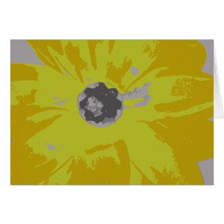 Leere gelbe Lilie Notecard Mitteilungskarte
