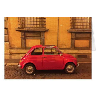 Leere Gruß-Karte - Italien Fiat 500 Karte