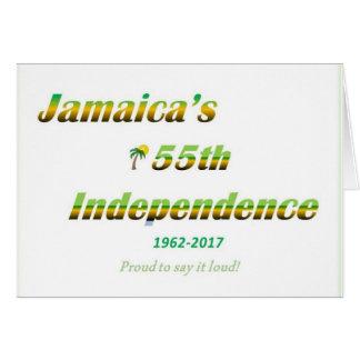 Leere jamaikanische Unabhängigkeits-Karte Karte