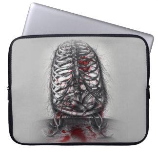 Leere Käfig-Anatomie-Horror-Kunst-Laptop-Hülse Laptop Sleeve