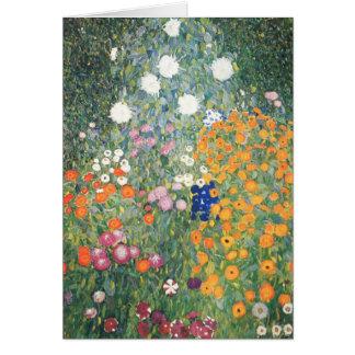 Leere Karte - der Blumen-Garten