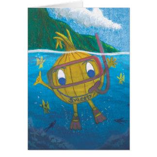 leere Karte der Snorkel Sweetyzwiebel