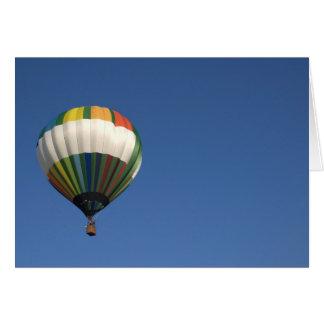 Leere Karte des Heißluftballons