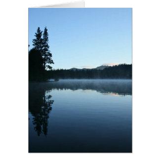 Leere Karte, Mountainsee, Nebel, Sonnenaufgang Karte