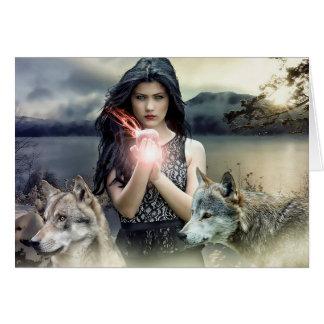 Leere Karte: Mystische Frauen-magische Karte