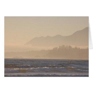 Leere Karte - Nebel entlang dem Ufer