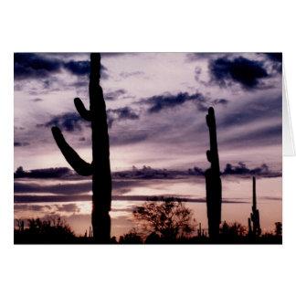 Leere Karte - Saguaro am Sonnenuntergang