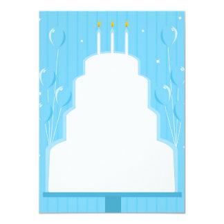 Leere Kuchen-Einladung Karte