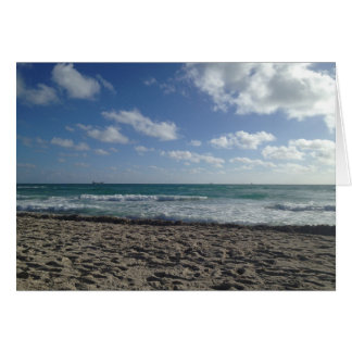 Leere Miami Beach-Karte Karte