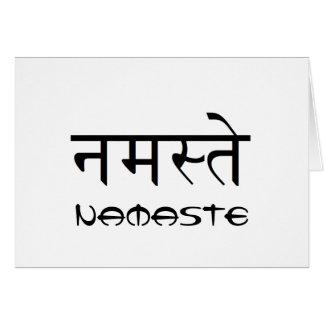 Leere Namaste Gruß-Karte Karte