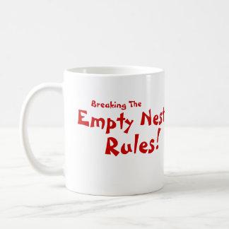 Leere Nest-Regeln! Kaffeetasse