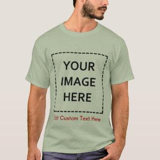 Leere Schablone schaffen Ihre Selbst T-Shirt
