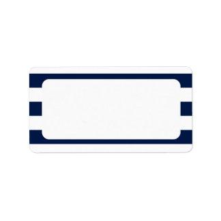 Leere Seehochzeits-Marine-Streifen Adressaufkleber