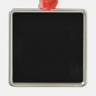 Leere Tafel Silbernes Ornament