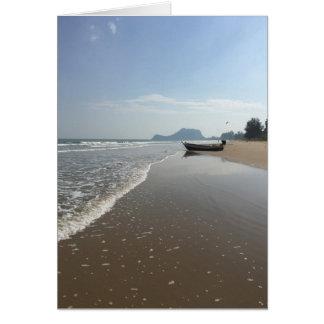 Leere Thailand-Strand-Boots-Gruß-Karte Mitteilungskarte