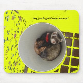 Leeren Sie die Abfall-Mausunterlage Mauspads