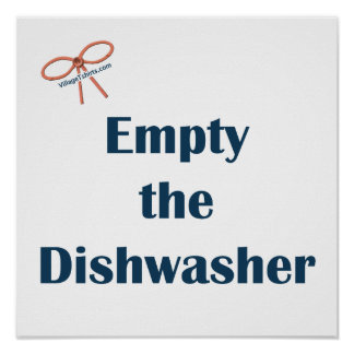 Leeren Sie die Spülmaschinen-Erinnerungen Plakate