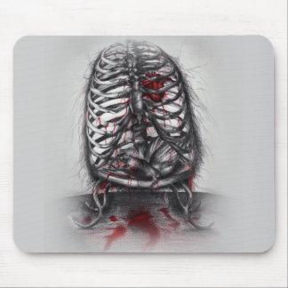 Leerer Käfig-anatomischer Herz-Horror-Surreal Mauspad
