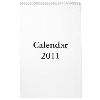 Leerer Kalender 2011