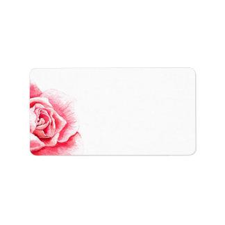 Leerer RoseWatercolor Adressaufkleber