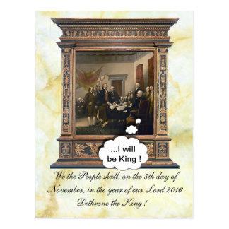 Leerer Stuhl-König Postkarte